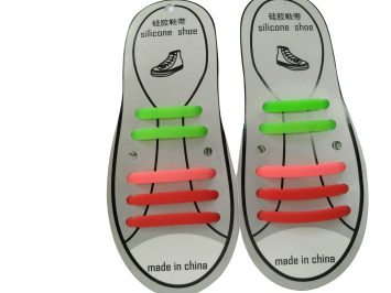 Pull Lock Elastic Silicone silica gel shoelace for Adults and Kids