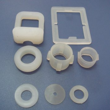 Transparent rubber fittings